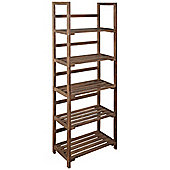 Five Tier Storage Shelves / Display Unit-dark Wood Effect