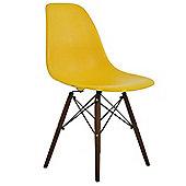 DSW Dining Chair Yellow Walnut