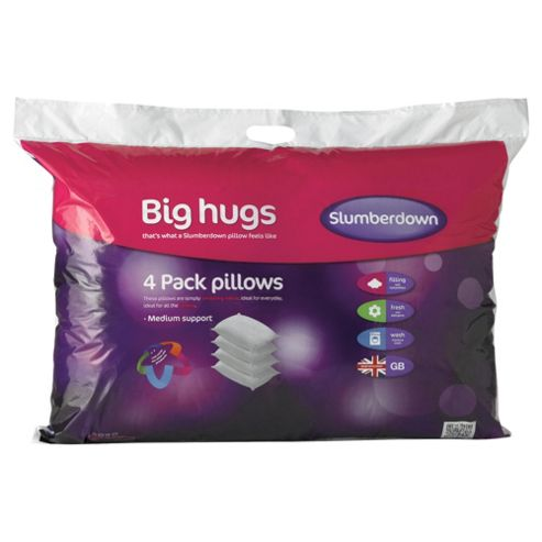 Slumberdown Big Hugs Pillows - 4 pack
