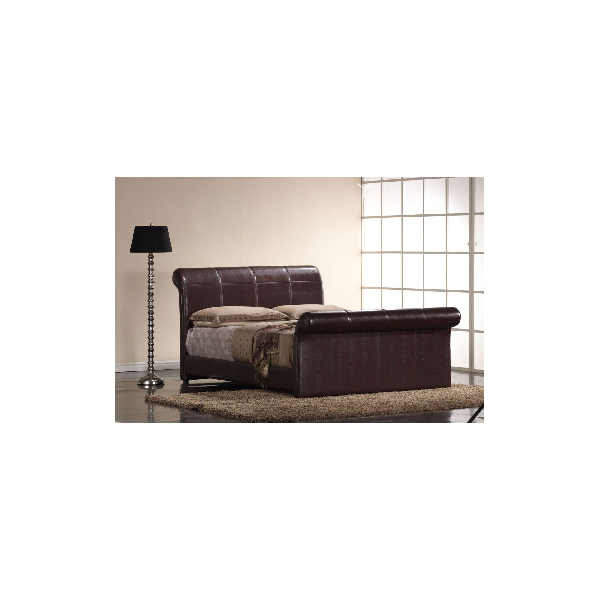 Interiors 2 suit Rome Bedframe - Double - Brown at Tesco Direct