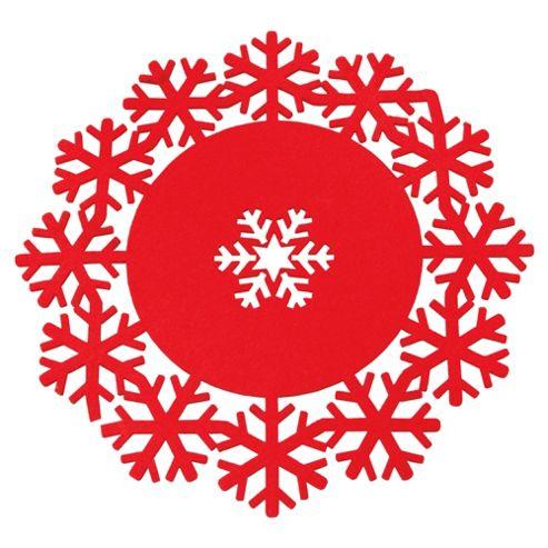 Tesco Christmas Snowflake Felt Placemat