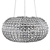 Harvard 3 Way LED Oval K9 Crystal Ceiling Light Fitting