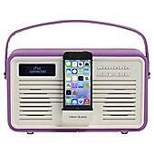 View Quest Retro DAB/DAB+/FM Radio with Lightning Dock Radiant Orchid
