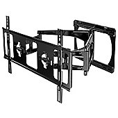 Peerless SLWS450/BK Dual Arm Articulating Wall Mount for up to 60 inch TVs