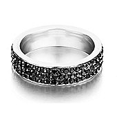 Shimla Unisex Black Stainless Steel Ring - SH122ML
