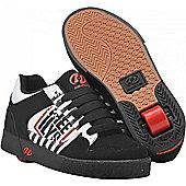 Heelys Caution Black/White/Red Heely Shoe - Black