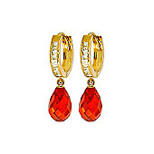 QP Jewellers 11.10ct Cubic Zirconia Leverback Earrings in 14K Gold
