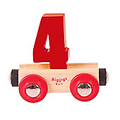 Bigjigs Rail Rail Name Number 4 (Dark Red)