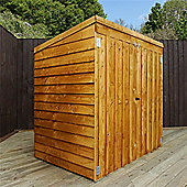 "4ft 8"" x 3ft Overlap Pent Mower Shed 4 x 3 Garden Wooden Shed 4x3"