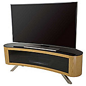 AVF Bay Curved TV Stand in Oak