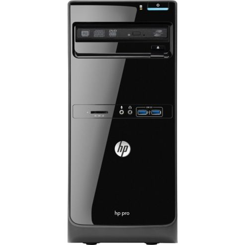 HP Pro 3500 Microtower PC Core i3 (3220) 3.3GHz 4GB 500GB DVD Writer SM LAN Windows 7 Pro 64-bit + Media Upgrade to Windows 8 Pro (HD Graphics 2500)
