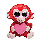 """Ty Beanie Boos - Charming the Monkey With Heart 10"""" BUDDY"""