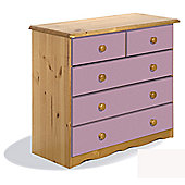 Verona Verona 2 Over 3 Drawer Chest - Pink