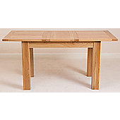 Hampton Solid Oak 120 cm Extending Dining Table