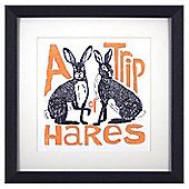 Animal Friends Framed Print - Hares