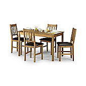 Coxmoor Oak Wood Dining Kitchen Table & 4 Chair Set