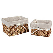 Tesco Water Hyacinth Baskets 2pk