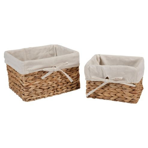 Tesco Water Hyacinth Baskets, Pack of 2