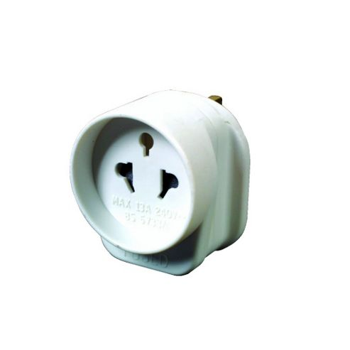 Tourist to UK Travel Adaptor with Edge Guard