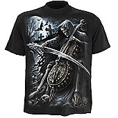 Spiral Symphony Of Death T-shirt, Short Sleeve, Adult Male, Large, Black - Other