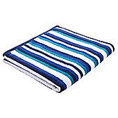 Tesco Stripe Towel - Navy