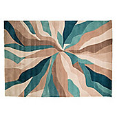 Infinite Splinter Oblong Teal Rug - 160X220 cm
