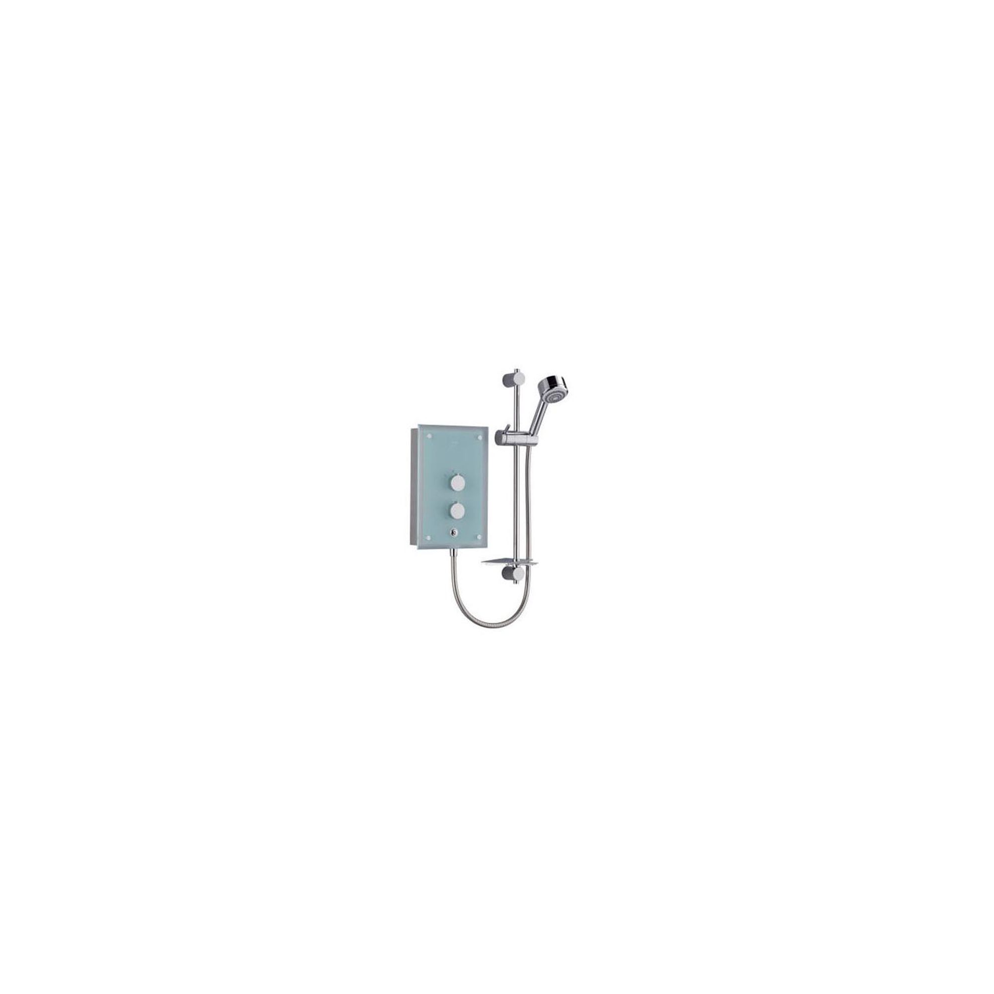 Mira Azora 9.8 kW Electric Shower, 4 Spray Handset, Frosted Glass/Chrome at Tesco Direct