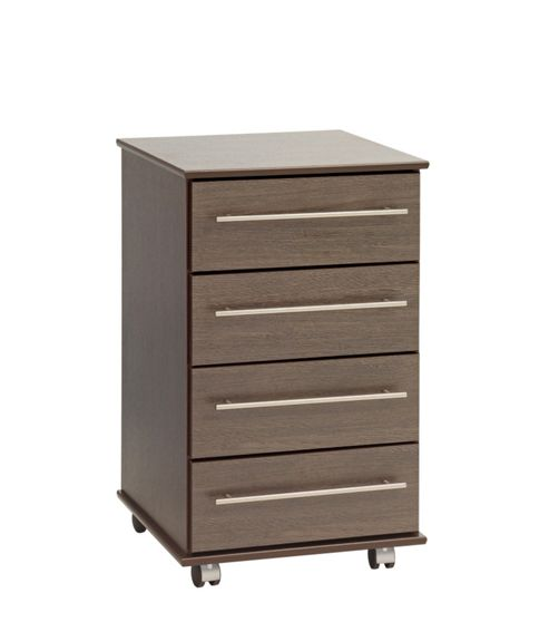 Ideal Furniture New York Four Drawer Bedside Table - Gloss Black