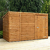 10ft x 6ft Windowless Overlap Pent Shed