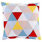Multi Triangles Print Cushion