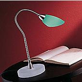 De Majo Poli Po Table Lamp - Chrome - Apple Green Stained