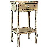 Originals Distressed Bedside Table with Tray Top