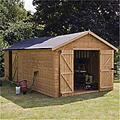 20ft x 10ft Windowless Deluxe Tongue & Groove Workshop + Extra Side Door