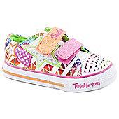 Skechers Pre School Girls Multicoloured Twinkle Toes Shuffles Shoe