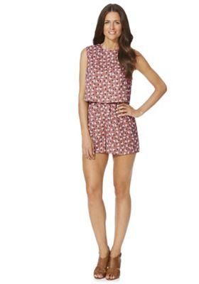 Fashion Union Floral Print Playsuit, Women's, Size: 12