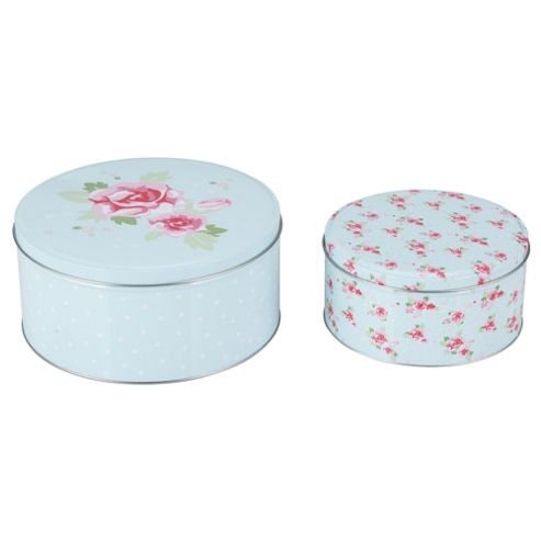 Tesco English Rose Set of 2 Cake Tins