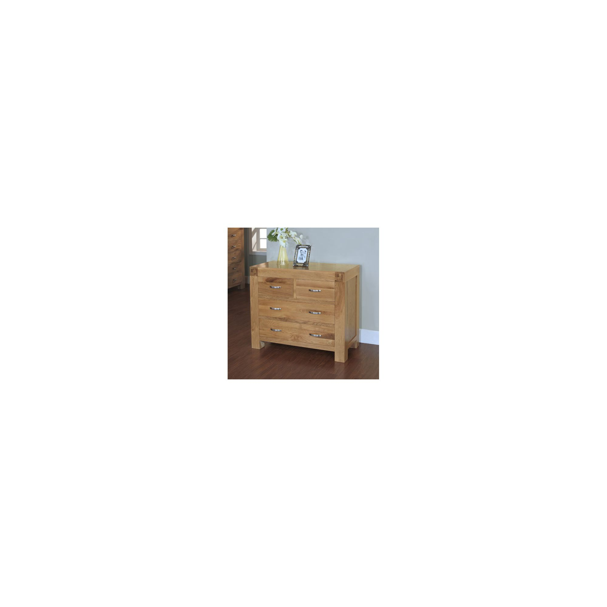 Hawkshead Rustic Oak Blonde 2 Over 2 Drawer Chest at Tesco Direct