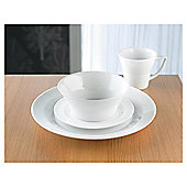 James Martin 16 piece, 4 person Dinner Set, White Porcelain