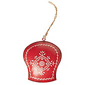 Red Nordic Bell Christmas Tree Decoration