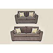 Sofia 3+2 Sofa Set Pewter