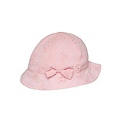 F&F Broderie Anglaise Hat 06 - 12 months Pink