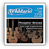 D'Addario 12-String Light Acoustic Guitar Strings