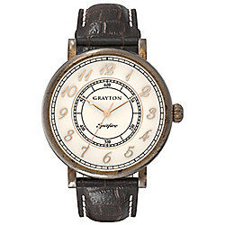 Grayton S-Line Mens Leather Watch GR-0014-001.6