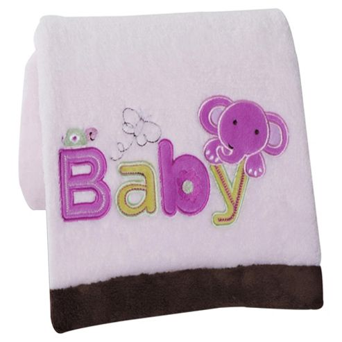 Kidsline Pink Baby Embroidered Blanket