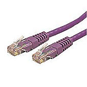 StarTech Cat 6 Purple Molded RJ45 UTP Gigabit Cat6 Patch Cable - Patch Cord (15m)