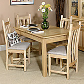 Old Charm Hertford 5 Piece Extending Dining Table Set