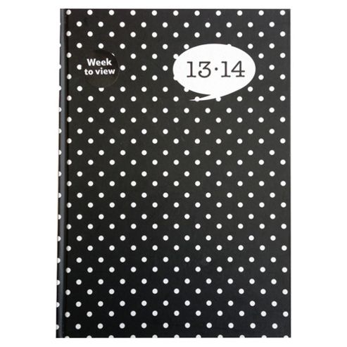 Collins A5 2013/14 Mid-year Week to View Hardbound Diary, Polka Dot