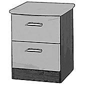 Welcome Furniture Mayfair 2 Drawer Bedside Table - Light Oak - White - White