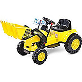 Caretero Battery Operated Ride-On Bulldozer (Yellow)