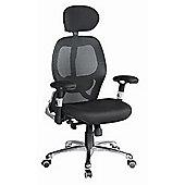 Eliza Tinsley Mesh back executive chair with headrest chrome base